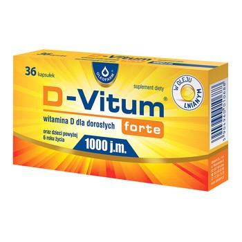 D-Vitum Forte 1000 j.m., kapsułki z witaminą D dla dorosłych, 36 szt.
