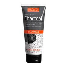Beauty Formulas, oczyszczająca maska glinkowa do twarzy, z aktywnym węglem, 100 ml