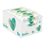 Pampers Coconut Pure, nawilżane chusteczki dla dzieci, 9 x 42 szt.