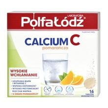 Laboratoria PolfaŁódź Calcium C, tabletki musujące o smaku pomarańczy, 16 szt.