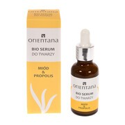 Orientana Bio, serum do twarzy, miód & propolis, 30 ml