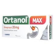 Ortanol Max, 20 mg, kapsułki dojelitowe, 14 szt