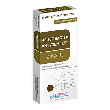 Domowe Laboratorium, Test Helicobakter Antygen, wykrywający antygen Helicobacter Pylori, 1szt