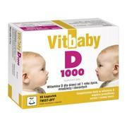Vitbaby D 1000, kapsułki twist-off, 30 szt.
