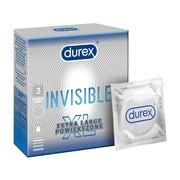Durex Invisible XL, prezerwatywy powiększone,  3 szt.