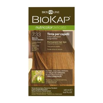 Biokap Nutricolor Delicato, farba do włosów, 7.33 pozłacany blond, 140 ml