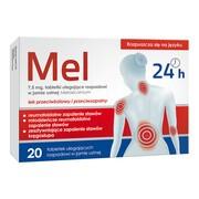Mel, 7,5 mg, tabletki ulegające rozpadowi w jamie ustnej, 20 szt.