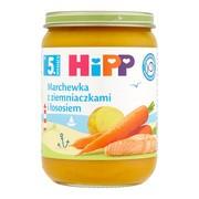 HiPP, marchewka z ziemniaczkami i łososiem, po 5. miesiącu, 190 g