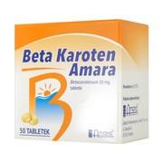 Beta karoten Amara, tabletki, 10 mg, 50 szt.
