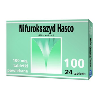 Nifuroksazyd Hasco, 100 mg, tabletki powlekane, 24 szt.