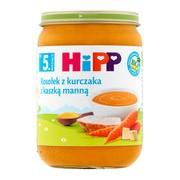 HiPP BIO, rosołek z kurczaka z kaszką manną, po 5. miesiącu, 190 g
