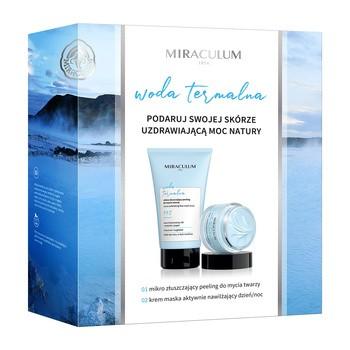 Zestaw Promocyjny Miraculum Woda Termalna, krem-maska, 50 ml + mikro złuszczający peeling, 150 ml
