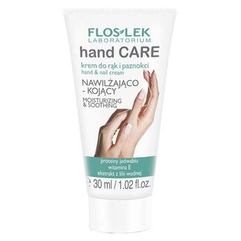 FlosLek Laboratorium Hand Care, krem do rąk i paznokci nawilżająco-kojący, 30 ml