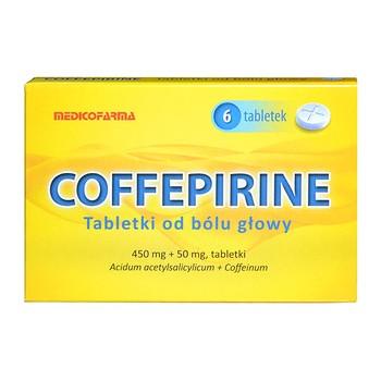 Coffepirine Tabletki od bólu głowy, 450 mg+50 mg, 6 szt.