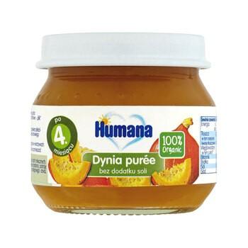 Humana 100% Organic, dynia puree, 4 m+, 80 g