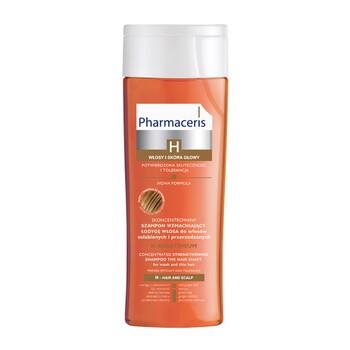 Pharmaceris H Keratineum, skoncentrowany szampon wzmacniający łodygę włosa, włosy osłabione i przerzedzone, 250 ml