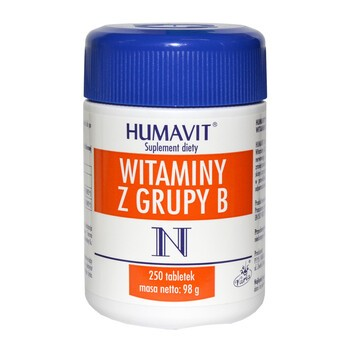 Humavit N Witaminy z grupy B, tabletki, 250 szt.