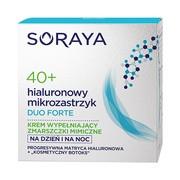 Soraya Hialuronowy Mikrozastrzyk Duo Forte, 40+, krem na dzień i na noc, 50 ml