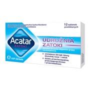 Acatar Zatoki, 200 mg + 30 mg, tabletki powlekane, 12 szt.