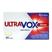 Ultravox Maxe, 8,75 mg, pastylki twarde o smaku miętowym, 24 szt.