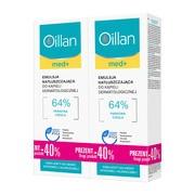 Zestaw Promocyjny Oillan med+, emulsja natłuszczająca do kąpieli dermatologicznej, 500 ml x 2 opakowania
