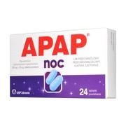 Apap Noc, 500 mg + 25 mg, tabletki powlekane, 24 szt.