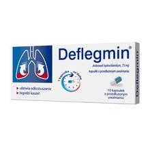 Deflegmin, 75 mg, kapsułki o przedłużonym uwalnianiu, 10 szt.