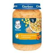 Gerber, zupka krupniczek drobiowy z warzywami, 9 m+, 190 g