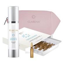 Zestaw Promocyjny Clarena Alergica Anti-Atopic, krem kojący, 50 ml + serum terapia szokowa, 10 ampułek + kosmetyczka GRATIS