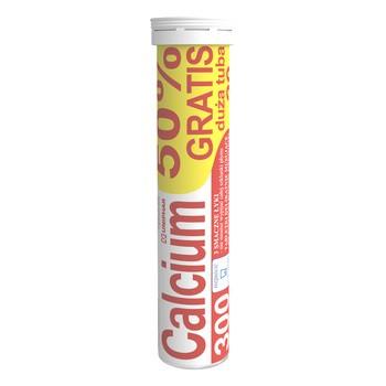 Calcium 300 Uni-Phar, tabletki musujące, pomarańcza, 20 szt. (10 szt.+10 szt.)