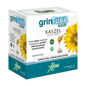 GrinTuss Adult, tabletki do ssania, 20 szt.