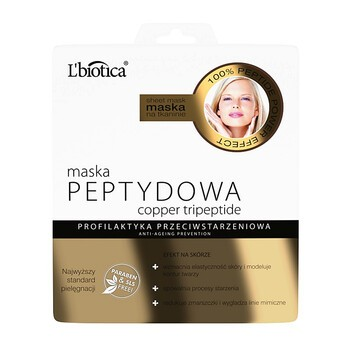 L`Biotica Maska Peptydowa, na tkaninie, 23 ml