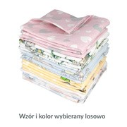 Weber, pielucha flanelowa dla niemowląt, kolorowy mix, 70 x 80 cm, 10szt.