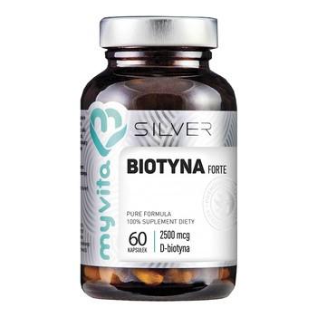 MyVita Silver Biotyna Forte 2500 µg, kapsułki, 60 szt.