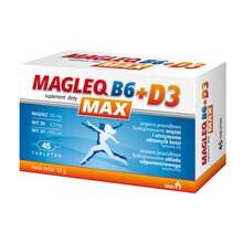 Magleq B6 Max + D3, tabletki, 45 szt.