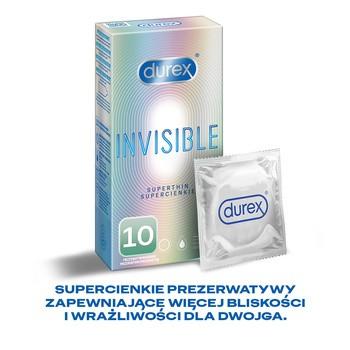 Durex Invisible, prezerwatywa dla większej bliskości, 10 szt.
