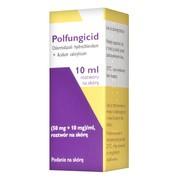 Polfungicid, 50 mg + 10 mg/ml, roztwór na skórę, 10 ml