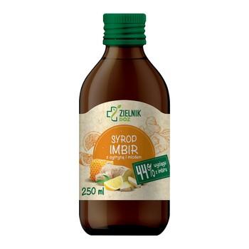 DOZ Zielnik Syrop Imbir z cytryną i miodem, 250 ml