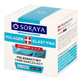 Soraya Kolagen i Elastyna, pielęgnacyjny krem nawilżający na dzień i na noc, 50 ml