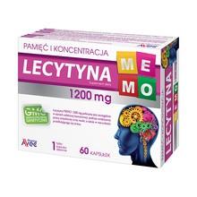 Lecytyna Memo 1200, kapsułki, 60 szt.