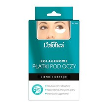 L`Biotica, kolagenowe płatki pod oczy, redukcja cieni i obrzęków, 3 x 2 szt.
