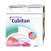 Cubitan, płyn o smaku truskawkowym, 4 x 200 ml