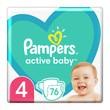Pampers Active Baby 4 (9-14 kg), pieluszki jednorazowe, 76 szt.