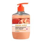 Fresh Juice, kremowe mydło w płynie, peach & magnolia z olejkiem brzoskwiniowym, 460 ml