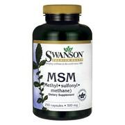 Swanson MSM, 500 mg, kapsułki, 250 szt.