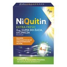 Niquitin Extra Fresh (Menthol), 4 mg, guma do żucia lecznicza, 100 szt.