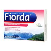Fiorda, pastylki do ssania o smaku malinowym, 30 szt.