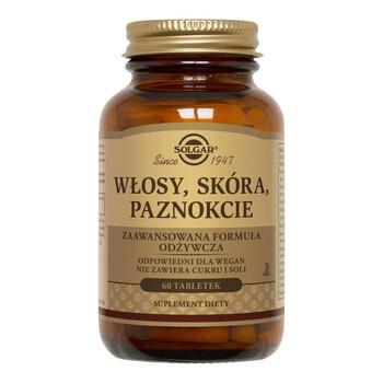 Solgar Formula Włosy, Skóra, Paznokcie, tabletki, 60 szt.