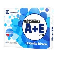 Witamina A+E Avet, kapsułki miękkie, 30 szt.