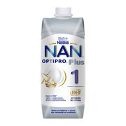 Nan Optipro Plus 1 HM-0, mleko początkowe w płynie dla niemowląt od urodzenia, 500 ml
